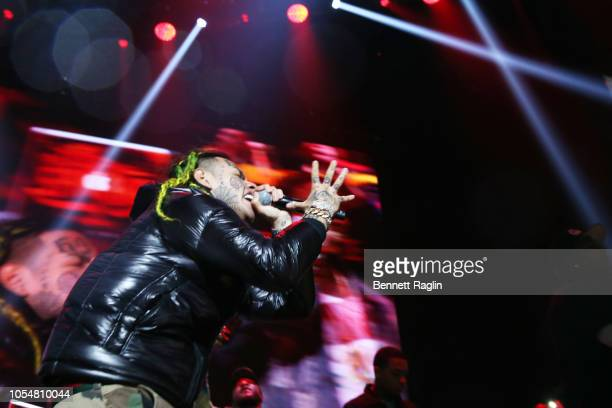 Rapper 6ix9ine performs at Power 1051's Powerhouse 2018 at Prudential Center on October 28 2018 in Newark New Jersey