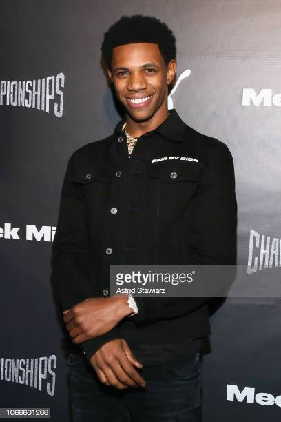 Rapper A Boogie wit da Hoodie attends Meek Mill and PUMA celebrate CHAMPIONSHIPS album release party at PHD at the Dream Downtown on November 29 2018...