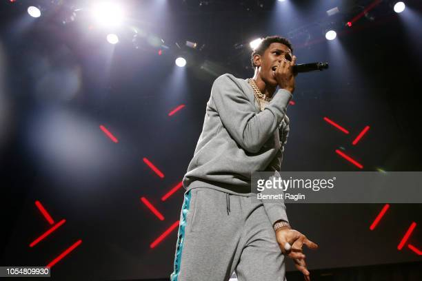 Rapper A Boogie wit da Hoodie performs at Power 1051's Powerhouse 2018 at Prudential Center on October 28 2018 in Newark New Jersey