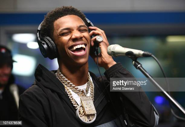 Rapper A Boogie Wit Da Hoodie performs on SiriusXM's The Heat Channel on December 18 2018 in New York City