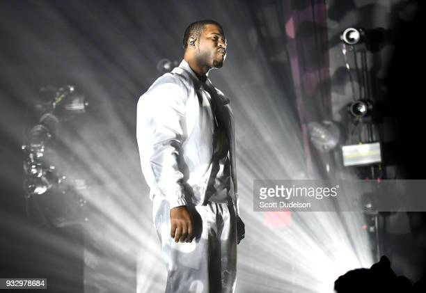 Rapper A$AP Ferg performs onstage at The Novo by Microsoft on March 16 2018 in Los Angeles California