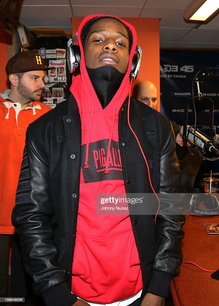 Rapper A$AP Rocky attends Nadia G And ASAP Rocky Invade The Whoolywood Shuffle at SiriusXM Studios on December 14, 2012 in New York City.