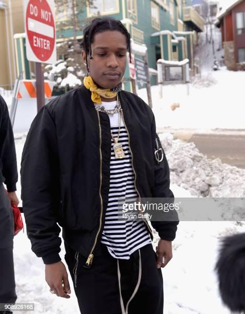 Rapper A$AP Rocky attends the 2018 Sundance Film Festival on January 22 2018 in Park City Utah