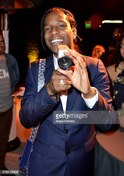 Rapper A$AP Rocky attends the after party for the Los Angeles premiere of 'Dope' in partnership with the Los Angeles Film Festival at Regal Cinemas...