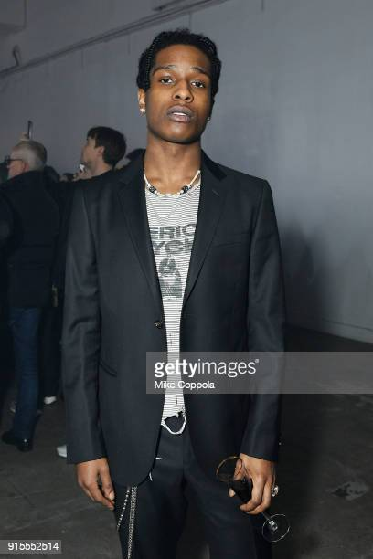Rapper A$AP Rocky attends the Raf Simons runway show during New York Fashion Week Mens' on February 7 2018 in New York City