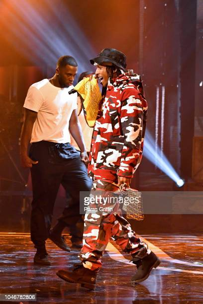 Rapper A$AP Rocky onstage during the BET Hip Hop Awards 2018 at Fillmore Miami Beach on October 6 2018 in Miami Beach Florida