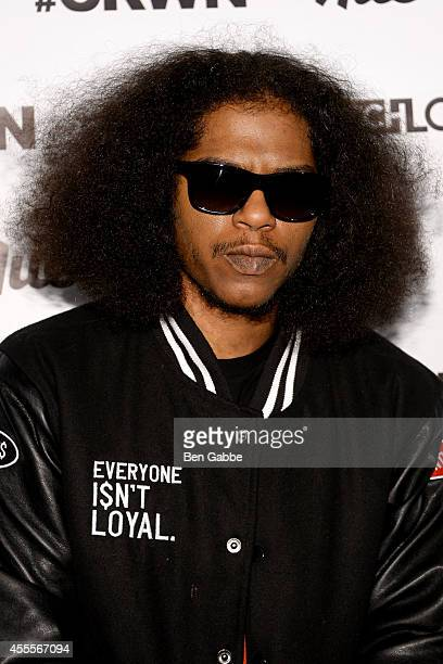 Rapper AbSoul attends Elliott Wilson hosts CRWN with AbSoul for WatchLOUDcom presented by vitaminwater at the SVA Theater on September 16 2014 in New...