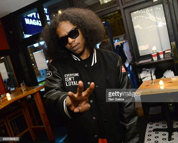 Rapper AbSoul attends the Elliott Wilson hosts CRWN with AbSoul for WatchLOUDcom presented by vitaminwater after party at the Chelsea Pub on...