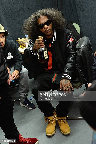 Rapper AbSoul speaks at Elliott Wilson hosts CRWN with AbSoul for WatchLOUDcom presented by vitaminwater at the SVA Theater on September 16 2014 in...