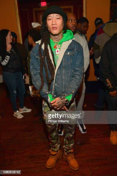 Rapper Ace B47 attends A Craft Syndicate Music Collaboration Unveiling Event at Opera Atlanta on December 10 2018 in Atlanta Georgia