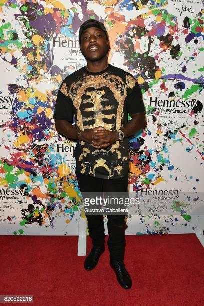 Rapper Ace Hood attends Hennessy VS Limited Edition by JonOne launch party at Cafeina on July 21 2017 in Wynwood Miami The Limited Edition release by...