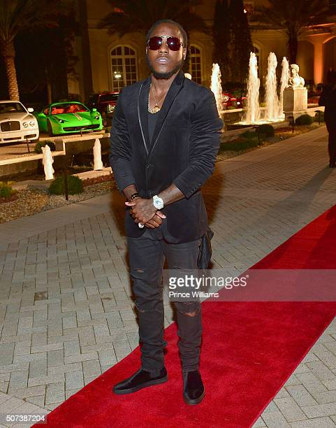 Rapper Ace Hood attends Rick Ross Private Birthday affair at Rick Ross Mansion on January 28 2016 in Atlanta Georgia