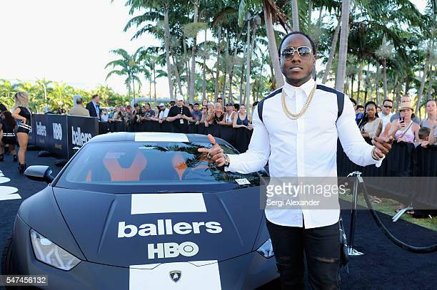 Rapper Ace Hood attends the HBO Ballers Season 2 Red Carpet Premiere and Reception on July 14 2016 at New World Symphony in Miami Beach Florida