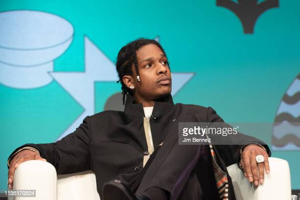 Rapper actor and creative director A$AP Rocky is interviewed live on stage during the 2019 SXSW Conference and Festival at the Austin Convention...