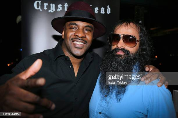 Rapper/ Actor Maestro Fresh Wes and actor Suresh John attend the Maestro Fresh Wes Champagne Campaign Album Listening Party at the Broadview Hotel on...