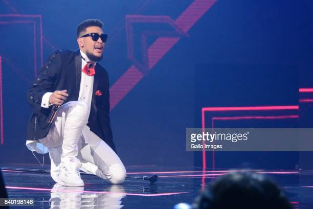 Rapper AKA during the DStv Mzansi Viewers Choice Awards event at the Sandton Convention Centre on August 26 2017 in Sandton South Africa Hosted by...