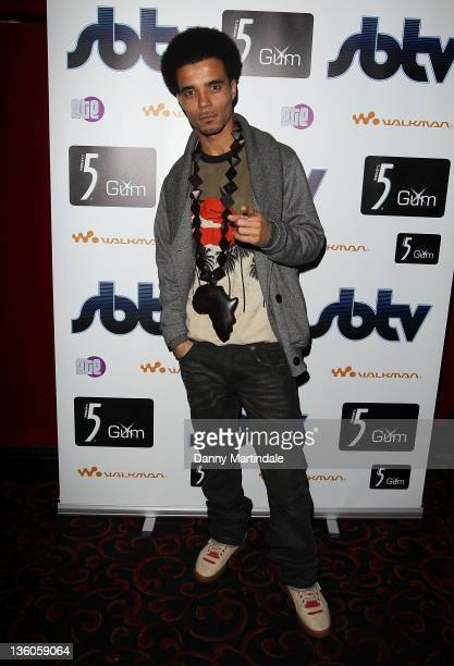 Rapper Akala attends the SBTV Christmas Party at KOKO on December 21 2011 in London England