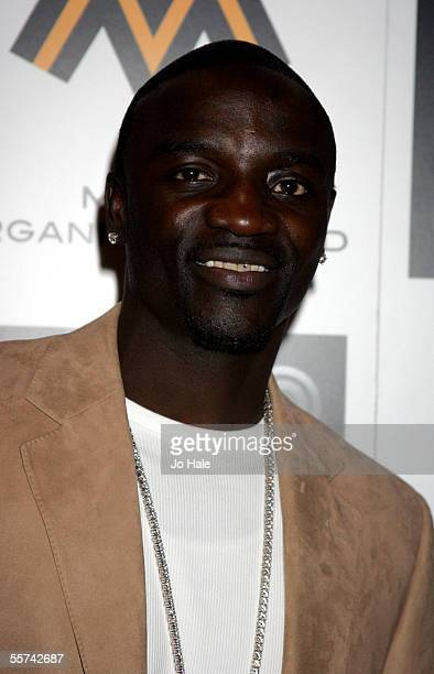 Rapper Akon arrives at the MOBO Awards 2005 the tenth anniversary of the annual music event at the Royal Albert Hall on September 22 2005 in London...