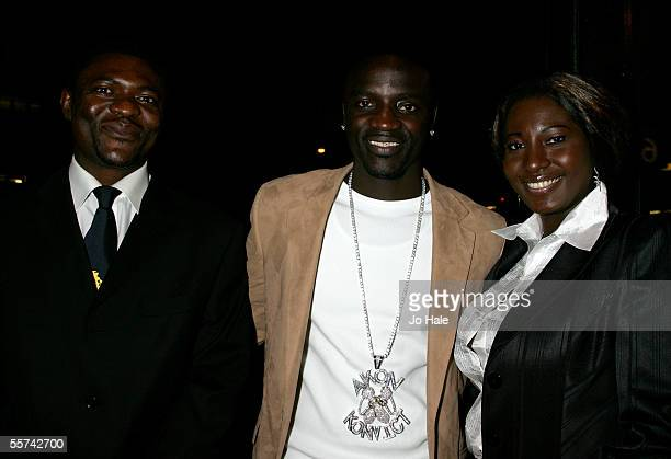 Rapper Akon arrives with his fahter jazz percussionist Mor Thiam and mother at the MOBO Awards 2005 the tenth anniversary of the annual music event...