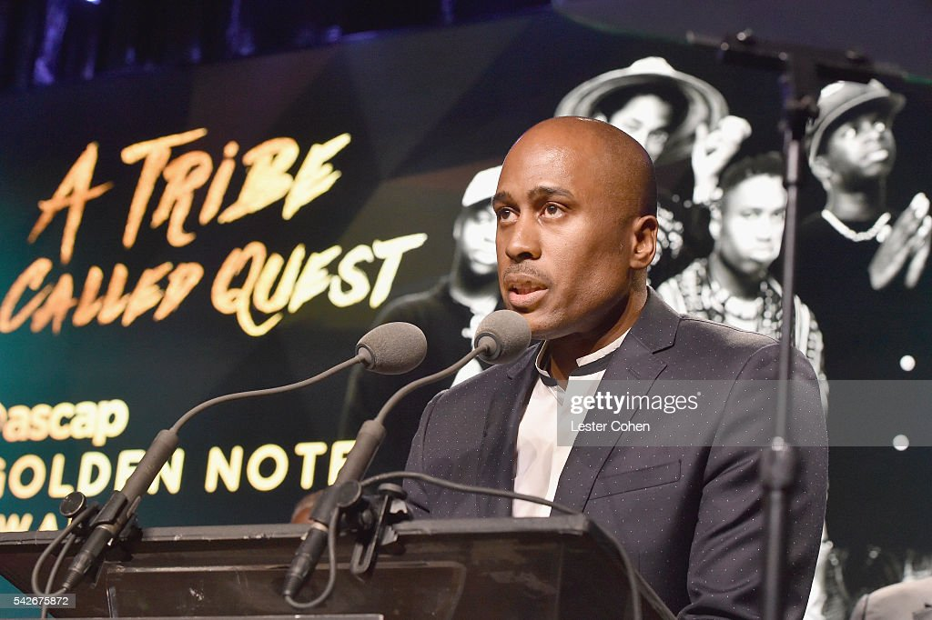 Rapper Ali Shaheed Muhammad of A Tribe Called Quest accepts the ASCAP Golden Note Award at the 2016 ASCAP Rhythm & Soul Awards at the Beverly Wilshire Four Seasons Hotel on June 23, 2016 in Beverly Hills, California.