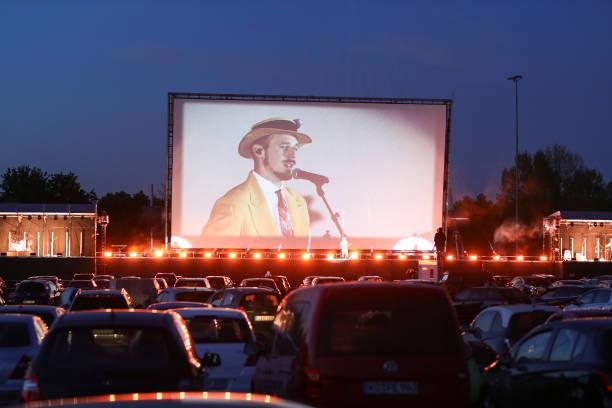 Alligatoah Performs At Drive-In Cinema During The Coronavirus Crisis