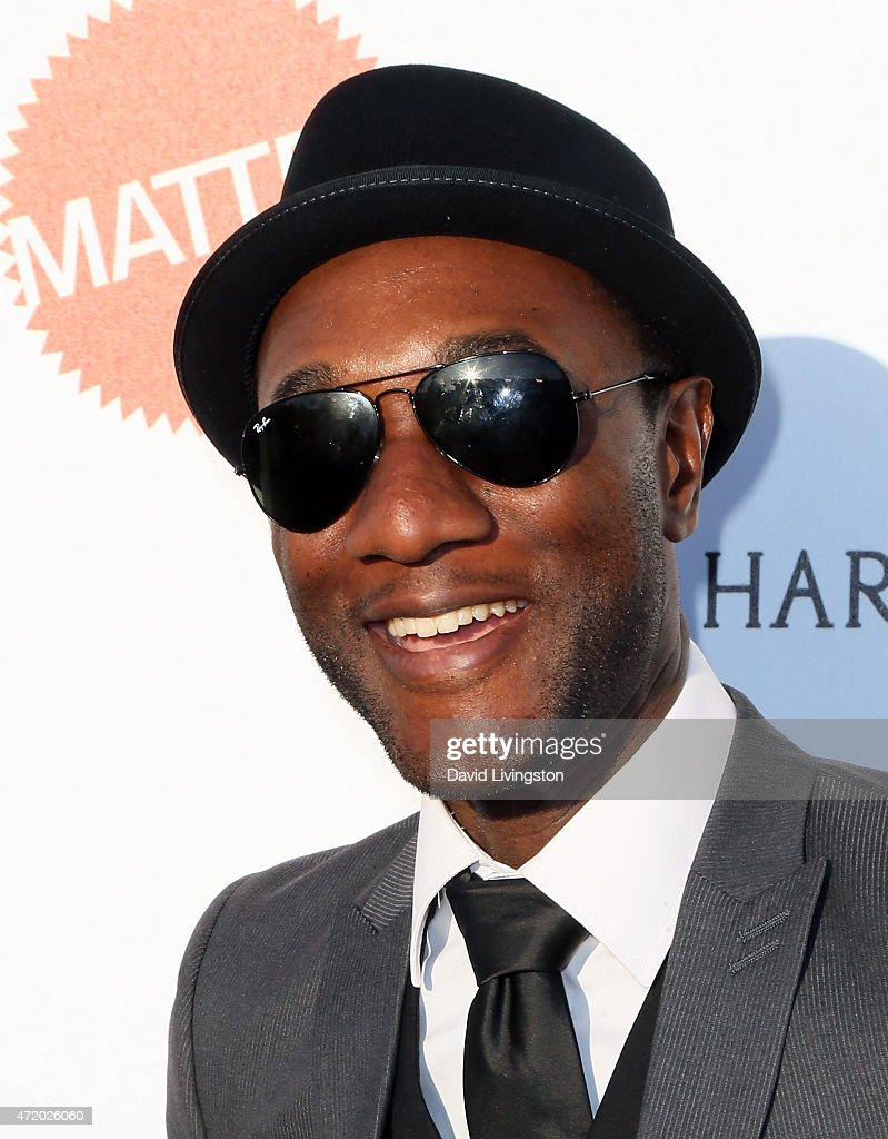 Rapper Aloe Blacc attends the Mattel Children's Hospital UCLA Kaleidoscope Ball at 3LABS on May 2, 2015 in Culver City, California.