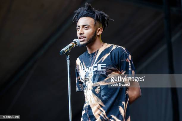 Rapper Amine performs at Lollapalooza 2017 at Grant Park on August 5 2017 in Chicago Illinois