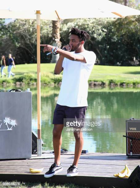 Rapper Amine performs during The Hyde Away hosted by Republic Records SBE presented by Hudson and bareMinerals during Coachella on April 14 2017 in...