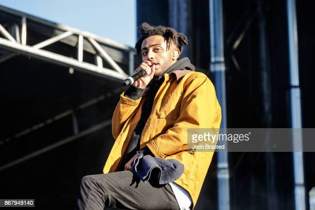 Rapper Amine performs during the Voodoo Music Arts Experience at City Park on October 29 2017 in New Orleans Louisiana