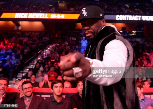 Rapper and Actor 50 Cent - Curtis Jackson attends the Bellator MMA event on October 26, 2019 for Bellator 232 at the Mohegan Sun Arena in Uncasville,...
