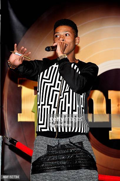 Rapper and actor Bryshere Gray from the FOX TV show Empire performs during the Empire cd signing at the Harold Washington Cultural Center on March 27...