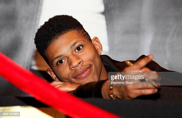 Rapper and actor Bryshere Gray from the FOX TV show Empire poses for photos in between signing autographs for fans during the Empire cd signing at...