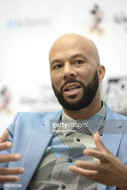 Rapper and actor Common discusses his new film The Hate You Give as part of the Diversity in the Media Industry State of the Union panel on September...