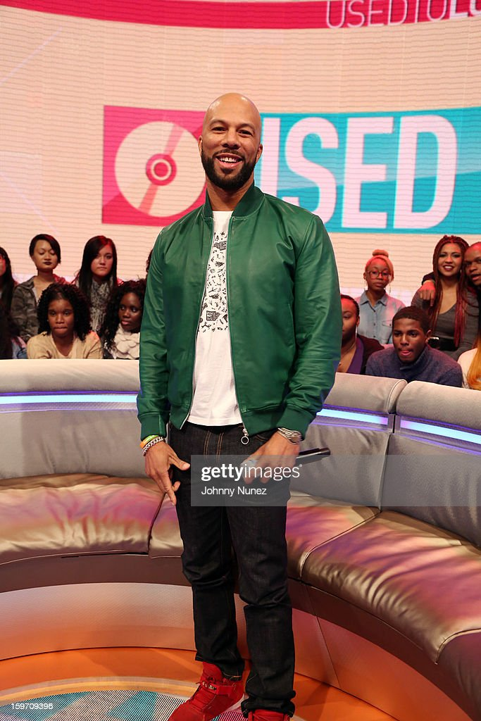 Rapper and actor Common visits BET's '106 & Park' at 106 & Park Studio on January 18, 2013 in New York City.