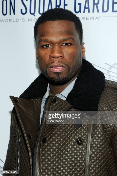 Rapper and actor Curtis '50 Cent' Jackson attends the Madison Square Garden Transformation Unveiling at Madison Square Garden on October 24 2013 in...
