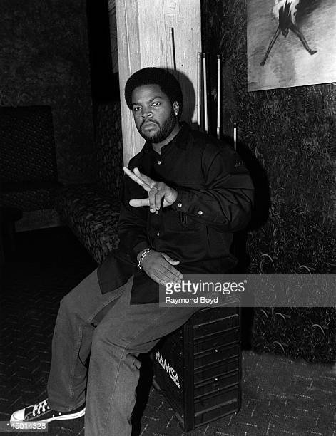 Rapper and actor Ice Cube poses for photos at the China Club in Chicago Illinois in OCTOBER 1993