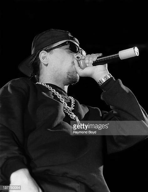 Rapper and actor Ice-T performs at the U.I.C. Pavilion in Chicago, Illinois in 1989.