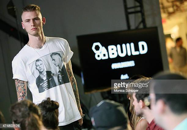 Rapper and actor Machine Gun Kelly performs at AOL Build at AOL Studios In New York on May 26 2015 in New York City