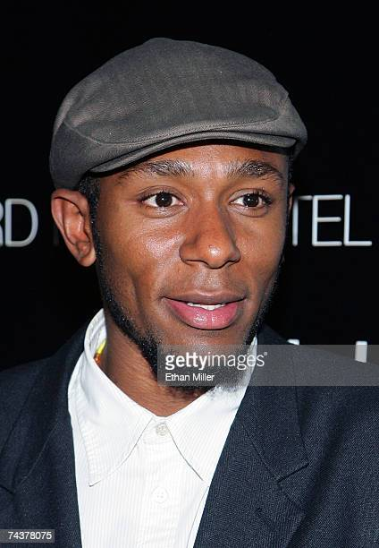 Rapper and actor Mos Def arrives for a concert by the band The Killers at the Hard Rock Hotel Casino June 1 2007 in Las Vegas Nevada