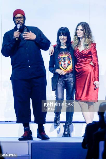 Rapper and award winner Samy Deluxe with Nena and her daughter Larissa Freitag during the GreenTec Awards Show at ewerk on May 12 2017 in Berlin...