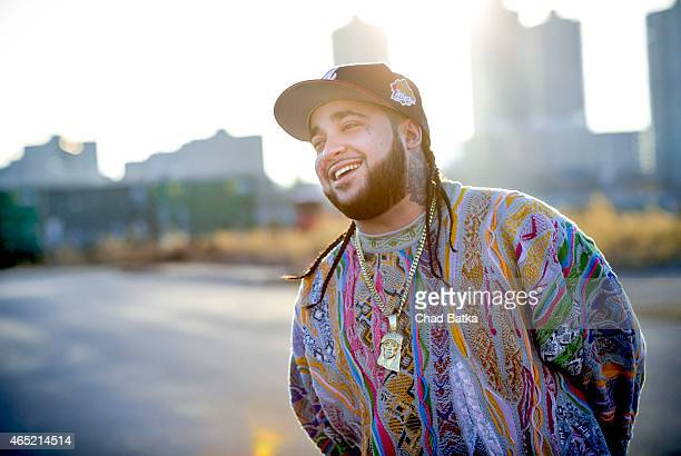 Rapper and founding member of rap collective A$AP Mob Steven Rodriguez aka A$AP Yams is photographed near his office in the Bronx for the New York...