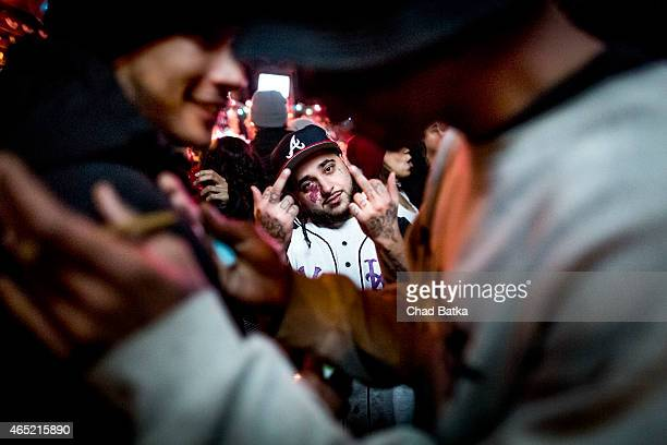 Rapper and founding member of rap collective A$AP Mob Steven Rodriguez aka A$AP Yams is photographed at an ASAP Ferg show at the Brooklyn Bowl on...