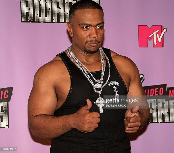 Rapper and Producer Timbaland poses at the 2007 MTV Video Music Awards at the Palms Casino, 09 September 2007 in Las Vegas, Nevada. AFP PHOTO / ROBYN...