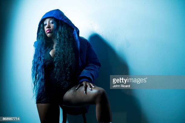 Rapper and reality TV personality Brittney F Taylor poses for a portrait on October 17 2017 in New York City