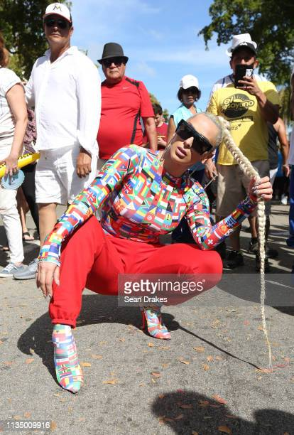 Rapper and reality TV personality Veronica Vega of Love Hip Hop Miami poses during the annual Calle Ocho Festival in the Little Havana community on...