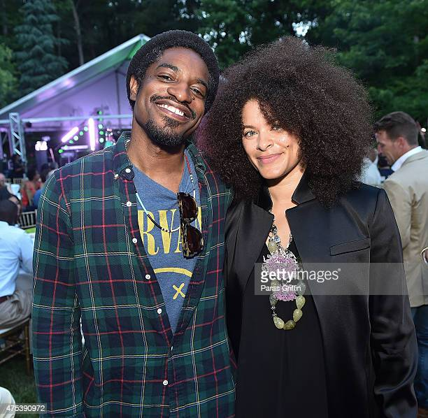 Rapper Andre 3000 and Mali Hunter attends In The Green Room CeeLo Green 40th Birthday Celebration on May 30 2015 in Atlanta Georgia