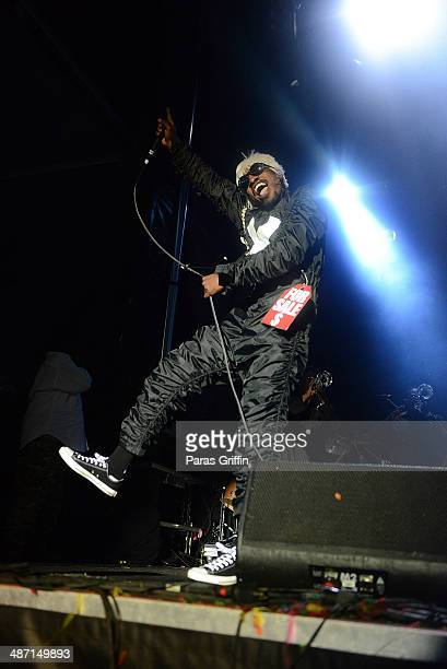 Rapper Andre 3000 performs onstage during the 2014 Counterpoint Festival at Kingston Downs on April 27, 2014 in Rome, Georgia.
