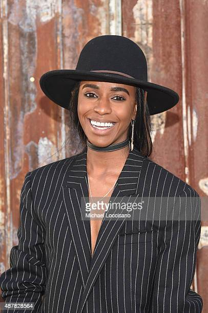 Rapper Angel Haze attends the Givenchy fashion show during Spring 2016 New York Fashion Week at Pier 26 at Hudson River Park on September 11 2015 in...