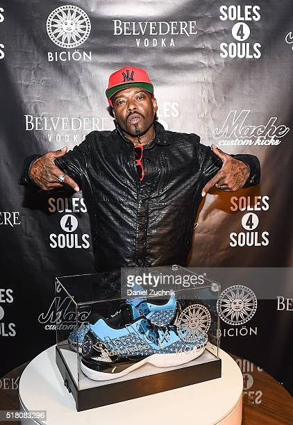 Rapper Anthony 'Treach' Criss attends the unveiling of 'The Fire Monkey' the world's most expensive sneaker to benefit Soles4Soles on March 29 2016...