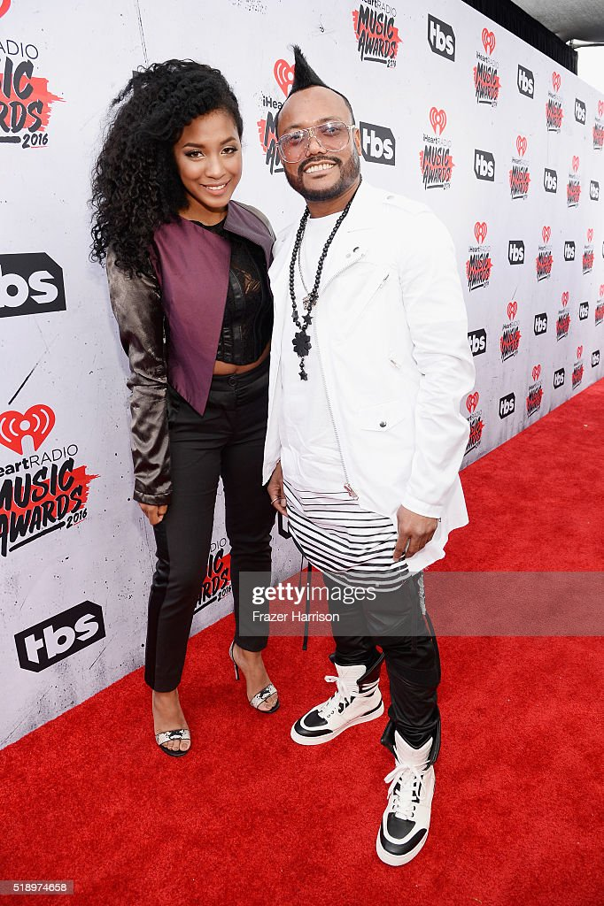 Rapper apl.de.ap (R) attends the iHeartRadio Music Awards at The Forum on April 3, 2016 in Inglewood, California.